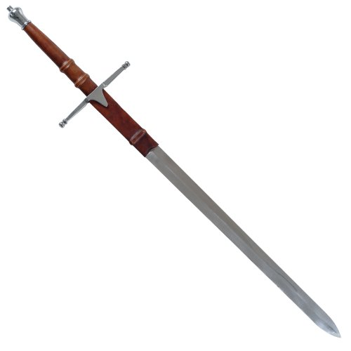 Whetstone Cutlery William Wallace Medieval Sword with Sheath, Silver