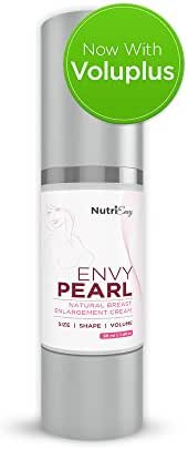 EnvyPearl Natural Breast Enlargement and Enhancement Cream - Naturally Lifts, Firms, Increases Volume for Bigger Bust Size and Curves- 2 Month Supply