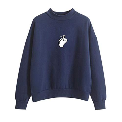 Con Para Jerséis Mujer Armada Mujer Capucha Largas Mujer otoño Sudaderas Carta De Impresión Tops Luckycat Invierno Talla Grande Camisetas Blusa wxXq0SRp