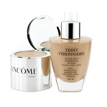Teint Visionnaire Skin Perfecting Make Up Duo SPF 20 - # 010 Beige Porcelaine 30ml/1oz by LANCOME PARIS (Image #3)