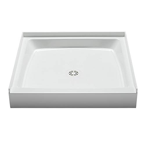 "PROFLO PFSB3434WH Single Curb Rectangular Shower Pan (34"" X 34"") - For Alcove Installation"