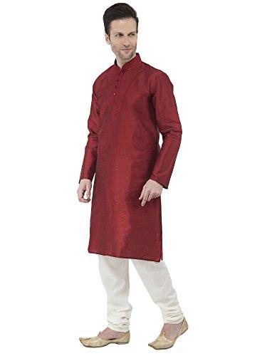 Indio Vestido Rojo Tradicional Bodas De Sherwani Pijama Festivo Verano Kurta Hombre Clasico Fiesta Skavij a57ggq