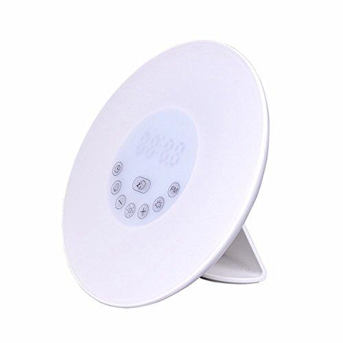 ZHENWOFC Berührungsaufwachen Sie leichte Sonnenaufgangssimulation mit Wecker & & & FM Radio Farbeful Atmosphere Lamp Innenlicht (Farbe   EU plug) B07P784KMS   Abrechnungspreis  3d5dba