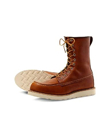 Red Wing Mens 8 Inch Classic Moc Brown Boot - 14 D - Classic Moc Slip
