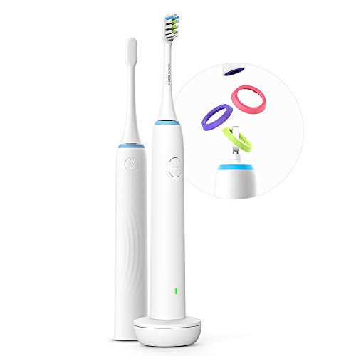 Soocas X1 Electric Sonic Toothbrush Power Rechargeable Battery with Automatic 2 Min. Timer and 3 Optional Cleaning Modes Micro-Vibration 37200 Per Min, White