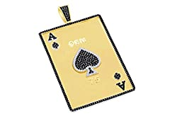 Black & White Natural Diamond Card Pendant