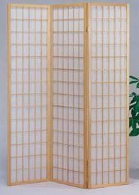 The Furniture Source 3 Panel Natural Color Wood Shoji Screen/Room Divider, Natural by The Furniture Source
