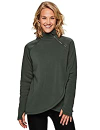 RBX Active Women's Zip Mock Pullover with Tulip Crossover
