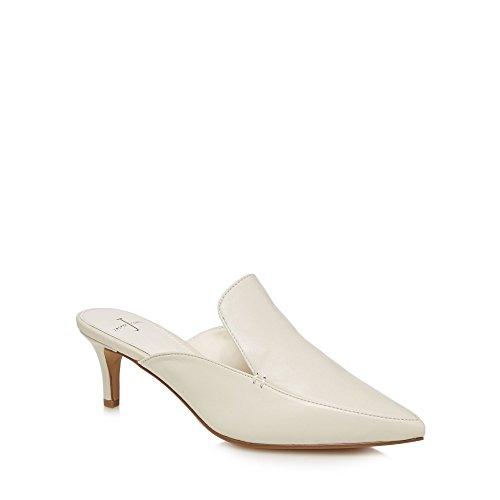 J by Jasper Conran Womens Off White Leather 'Jerry' Mules OGKM7WOw