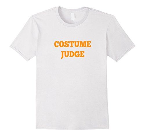 Men's Costume Judge Shirt - Cheap College Halloween Costume Medium White (Funny College Halloween Costume Ideas Men)
