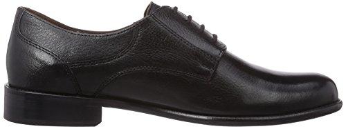 Manz Nizza - zapatos con cordones de cuero hombre negro - Schwarz (001 schwarz)