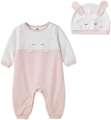 [Patrocinado] minibalabala recién nacido bebé ropmer coche de dibujos animados pijamas de manga larga Baby Boy ropa de niña de algodón Pelele