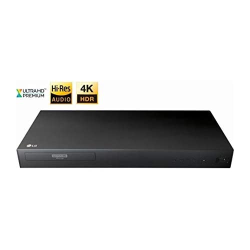 Image of Blu-ray Players LG 4K Ultra Multi Region Blu Ray Player - Multi zone A B C Blu-ray Pal Ntsc - Dual Voltage -Bundle with Dynastar HDMI Cable