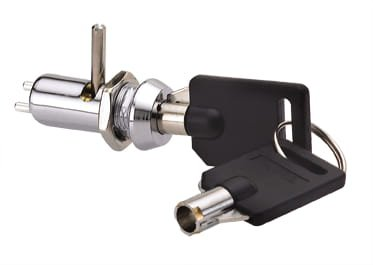 Tubular Cam Lock Electricity Powered, 9.5mm Comes with Two Keys, Great for Slot Machines, Arcade Machines, Electronics by Bliss Brands