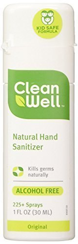 Cleanwell All-Natural Hand Sanitizer Original Scent, Pocket Size, 1-Ounce Spray Bottles (Pack of 12)