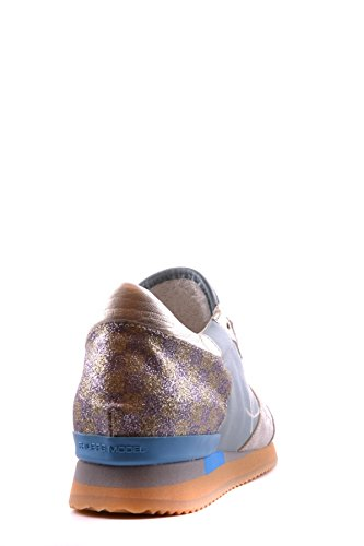 Philippe Model Ladies Mcbi238043o Sneakers In Pelle Blu Chiaro