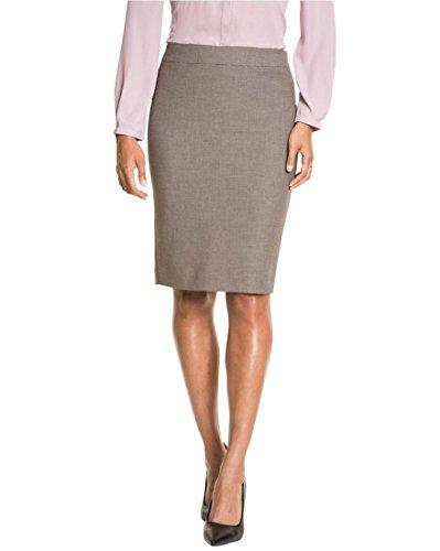 - LE CHÂTEAU Tailored Pencil Skirt,6,Brown/Black