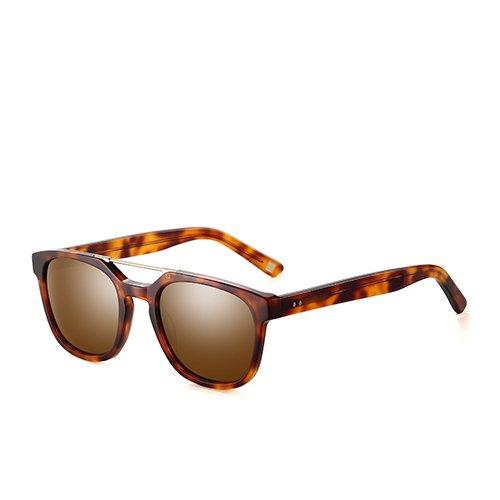 guía hombres TL de en C02 C03 gafas Gafas gafas de pesca de sol marrón Sunglasses Unisex polarizadas para Demi acetato Brown viajes humo OOw45qr