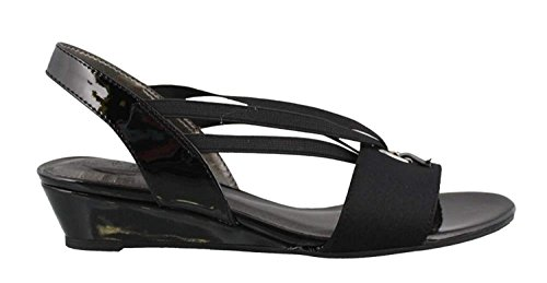 LifeStride Womens Yario Open Toe Casual Slingback Sandals, Navy, Size 9.5 -