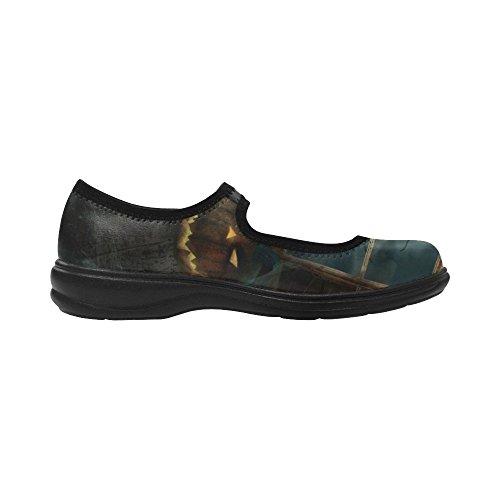 Shoes Mouth Multicoloured12 Story Deep Womens Custom D Instep Fashion Flats RxYXnT