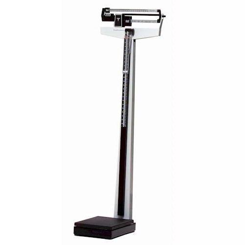 "Health O Meter 402LB Mechanical Beam Scale, Height Rod, 400 lb. Capacity, 10-1/2"" x 14"" x 3-1/4"" Platform"
