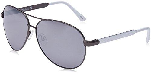 Rocawear Men's R1427 GUNWH Aviator Sunglasses, Gun White, 62 (Rocawear Sunwear Metal)