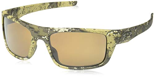 Oakley Men's Drop Point Polarized Iridium Rectangular Sunglasses, Desolve Bare Camo, 60.0 mm