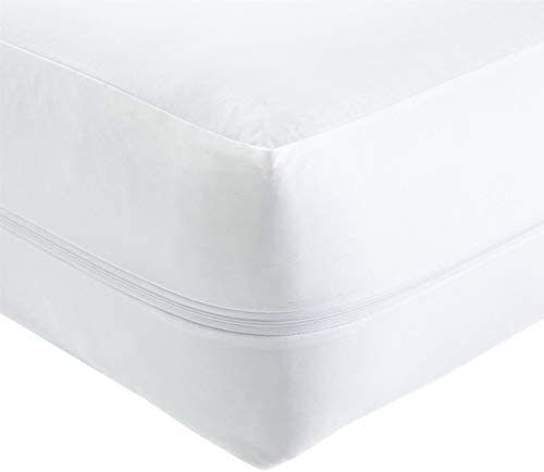 Olivia Rocco Anti Bed Bug Zipped Waterproof Mattress Total Encasement Protector Cover, Zipped Pillow Protector