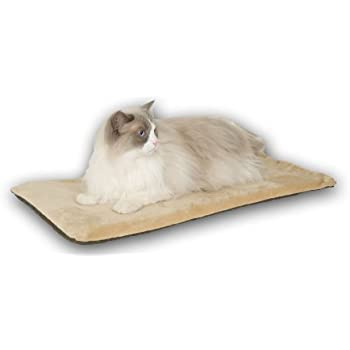 Amazon Com K Amp H Pet Products Thermo Kitty Heated Pet Mat Mocha 6w Pet Beds Pet
