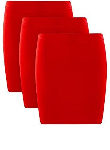 3 Rosso Ultra 4500n Oodji Gonna pacco Maglia Donna In Di 0qxgp