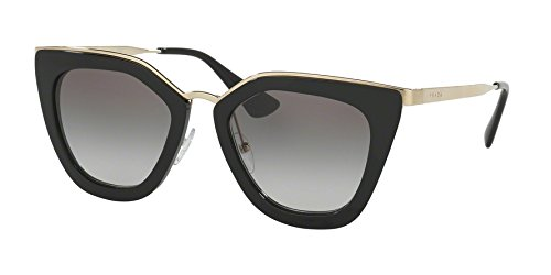 Prada Women's 0PR 53SS Black/Grey - Womens Black Sunglasses Prada