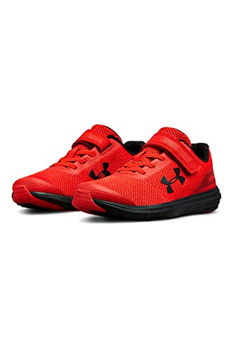 Under Armour Boys' Pre School Surge RN Alternate Closure Sneaker, Red (600)/Black, 3 by Under Armour (Image #9)
