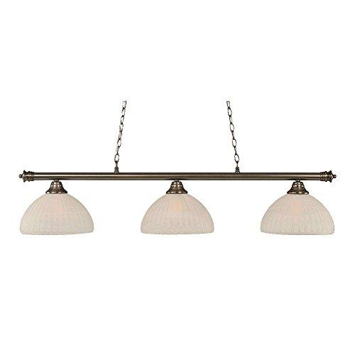 (Toltec Lighting 373-BN-5231 Oxford 3 Light Bar with 14