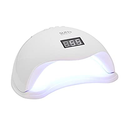 48W LED Nail Dryer UV Curing Professionally For All Gel Nails Toe Nail Auto On/Off Sensor Upgraded with 4 Timer Setting Home and Salon