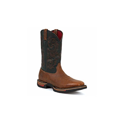 "Rocky Western Boot Mens 12"" Long Range WP 10.5 WI Brown Navy"