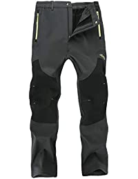 Outdoor Fleece Lined Windproof Hiking Pants Waterproof Ski Pants For Men Women