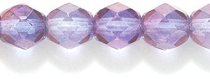 Preciosa Czech Fire 6mm Faceted Round Polished Glass Bead, Picasso Amethyst, 150-Pack Shipwreck Beads 6FC098
