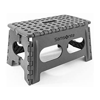 Phenomenal Samsonite Heavy Duty Folding Step Stool 9 High 16 Extra Wide In Grey By Vanderbilt Gmtry Best Dining Table And Chair Ideas Images Gmtryco