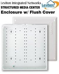 Leviton 47605-140 Structured Media Center Enclosure & Flush