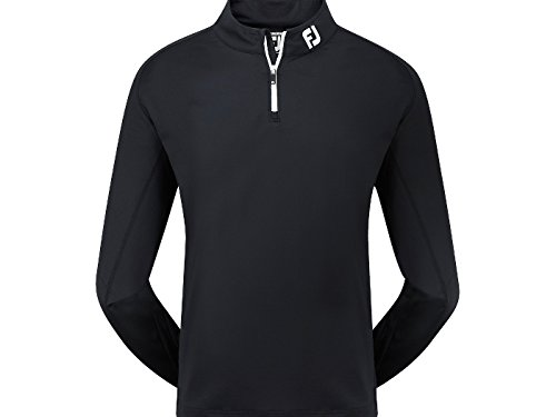 FootJoy 2014 Essentials Chill Out Zip Neck Mens Golf Pullover Black XL IN STOCK