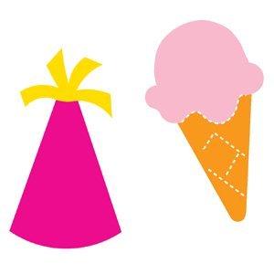 Accucut Zip'eSlim Die - Ice Cream Treat & Partytime Hat Accucut Die