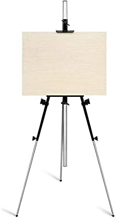 Arrtx Artist Easel Metal Stand Art Easel Stand Ultra Thick Iron Display Easel Easy To Carry And Set Up 35 To 82 Inches Adjustable Height And 3 3 Pounds Weight Perfect For Travelling
