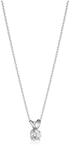 Round Cut Diamond Pendant Necklace Clarity