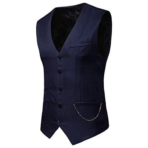 Dîner Single Slim Business Homme Confortable breasted Élégant Formel Bal Fit Vest Lianmengmvp Marine Formal Waistcoat De Droit Costume Suit Jacquard Gilet Classique w4gZvqB