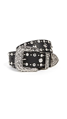 B-Low The Belt Women's Frank Moto Crystal Belt, Black/Silver, Small by B-Low the Belt