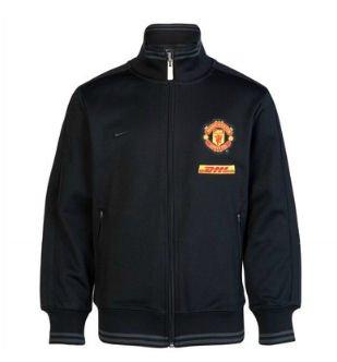Manchester United Black Trainer Jacket 2012/13