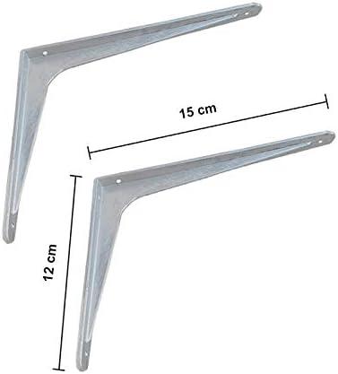 500x450 mm reggimensole staffe COPPIA di reggimensola pesante in alluminio in 7 differenti misure tasselli inclusi VE.CA