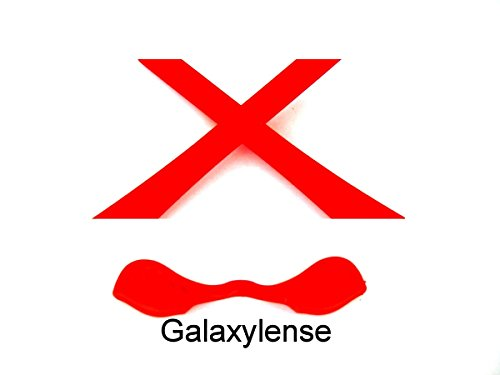 Galaxy Nose Pad & Earsocks Rubber Kits For Oakley Radarlock Multi-Color Availabl (Red)