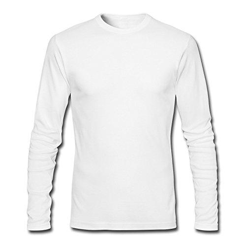 RichardL Men's Funny Long Sleeve Tshirt White M
