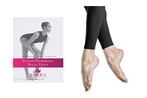 Basilica Dancewear sans Pieds Professionnel Ballet Collants de Danse 60den b738b31e434